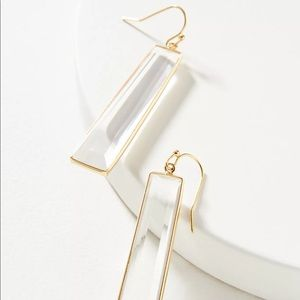 NWT Anthropologie • Glass Drop Earrings